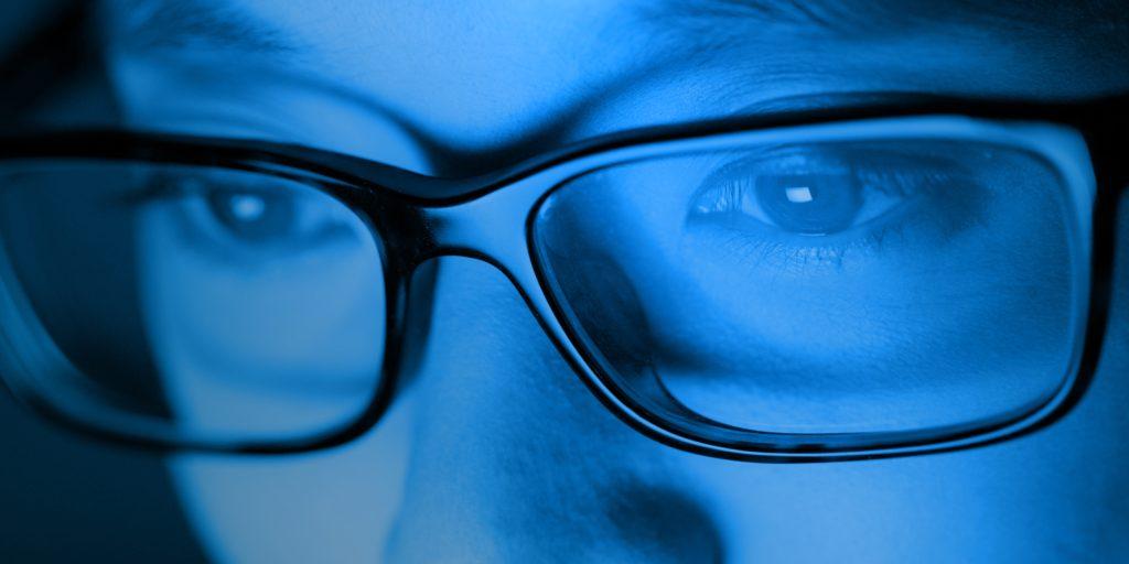 , Occhiali Luce Blu